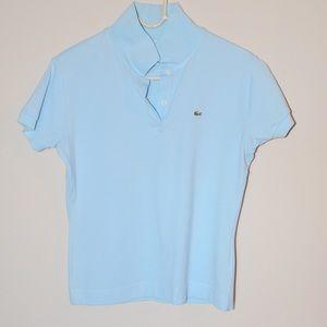 Lacoste Women's Sky Blue Polo Shirt Medium